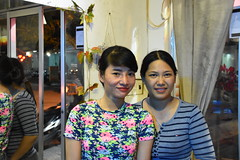 Nerisa (L) and Nu (R) at Nu's spa in Hoi An