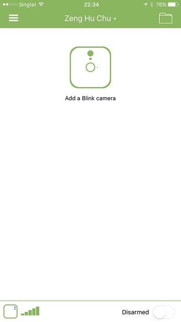 Blink iOS App - Blink Camera - Setup #1