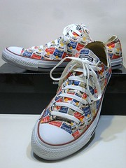 Converse X Andy Warhol Campbell's Soup Cans - White, Casino Red & Vision Blue Ox 147053F