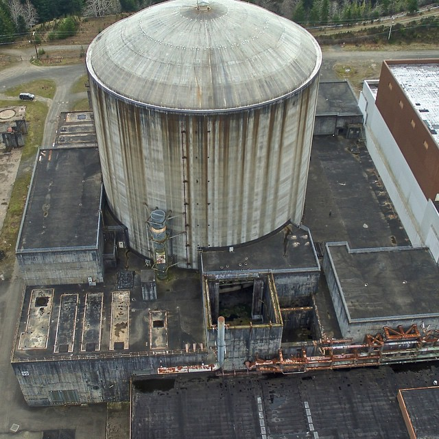 Doomsday looking abandoned nuclear facility. Satsup WA #inspire1 #drone. See more at www.dronefrontier.com #quadcopter #DJIcreator #dronesaregood #DJIinspire1 #aerialphotography #landscape #explorewashington #pacificnorthwest #HDR #PNW