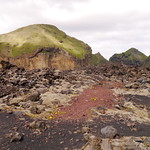 Walking in 40 year old lava fields