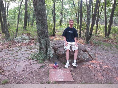 Hyrum at Taum Sauk, the highpoint of Missouri