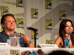 Kevin Chapman & Sarah Shahi Comic Con 14