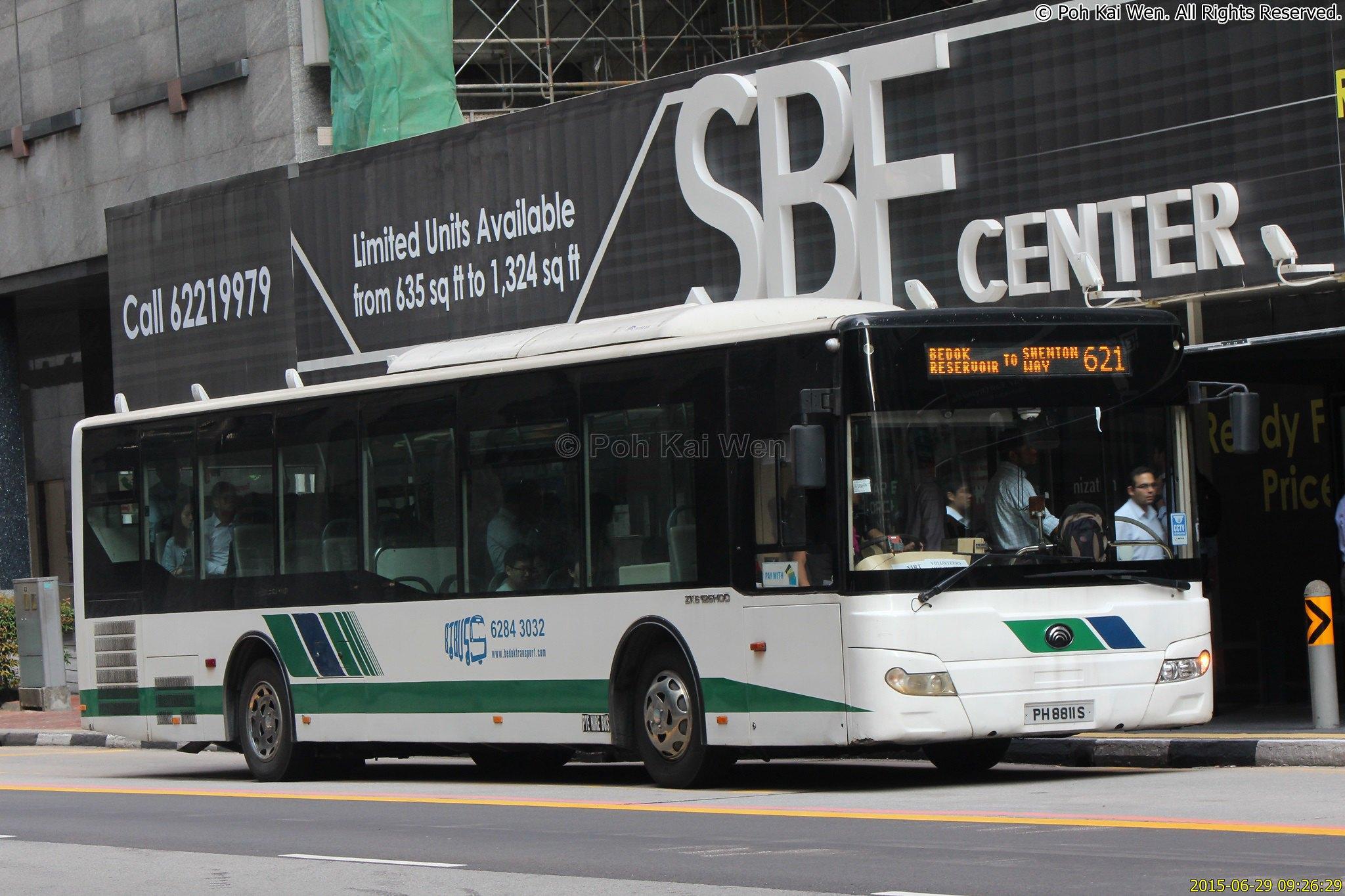 Bedok Transport Yutong ZK6126HGC (PH8811S) – Service 621