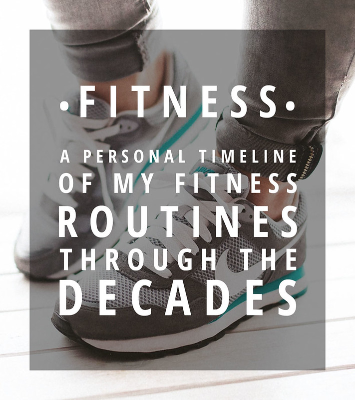 A personal timeline of the fitness routines of a 40-something through the decades