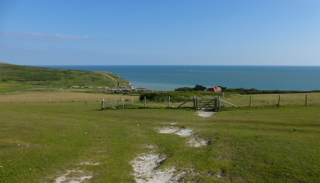 Looking back to Birling Gap Eastbourne to East Dean walk
