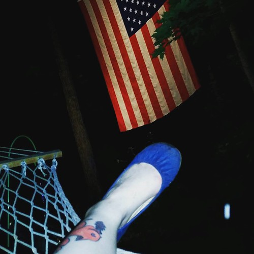 'Merica from a hammock in Wisconsin! Lovely evening :) everyone be safe!