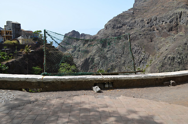 Football nets, Fontainhas, Santo Antao, Cape Verde