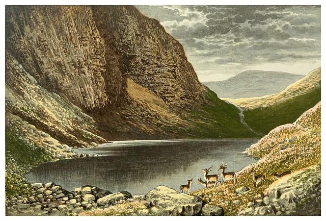 007-El lago negro-Scottish loch scenery-1882-A.F. Lydon