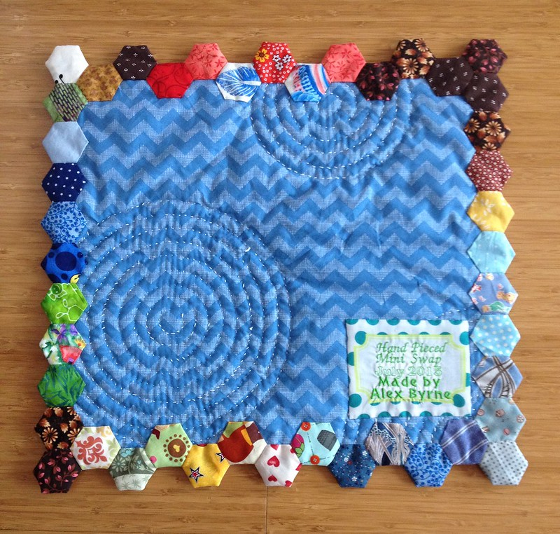 Back of Hand Pieced Mini Quilt