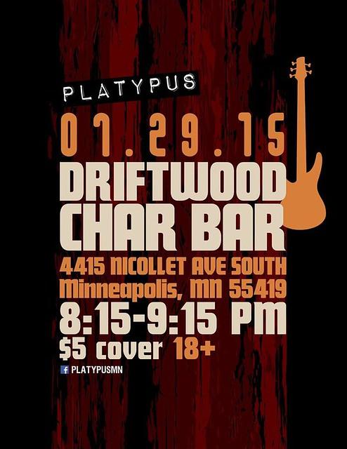 07/29/15 Platypus @ Driftwood Char Bar, Minneapolis, MN