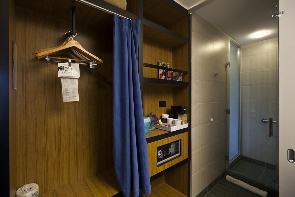 Closet and shelves
