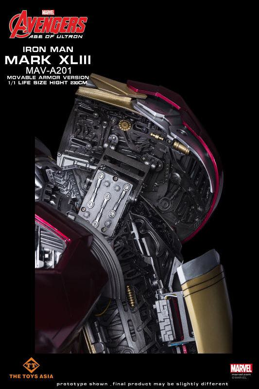 史上最貴鋼鐵人!1:1 全開甲鋼鐵人馬克43 Iron Man MK43 Movable Armor Version 1/1 Life-Size