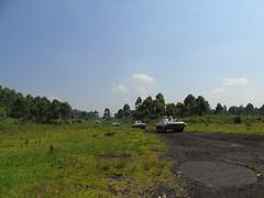 Sake, province du Nord Kivu, RD Congo: Une patrouille motorisée de domination de terrain (avec des véhicules de combat d'infanterie)  lancée à partir de Sake pour dominer la zone et vérifier la situation sécuritaire.