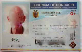 ecuador driver's license