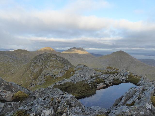 View from summit camp - Druim Fiaclach - Sgurr na Ba Glais, Rois-Bheinn and An Stac