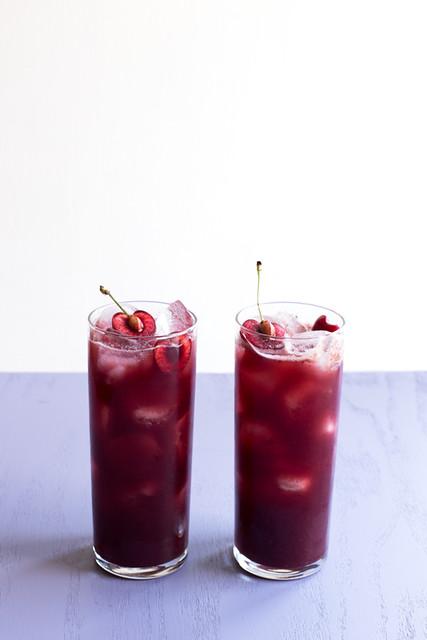 Dark Cherry Agua Fresca