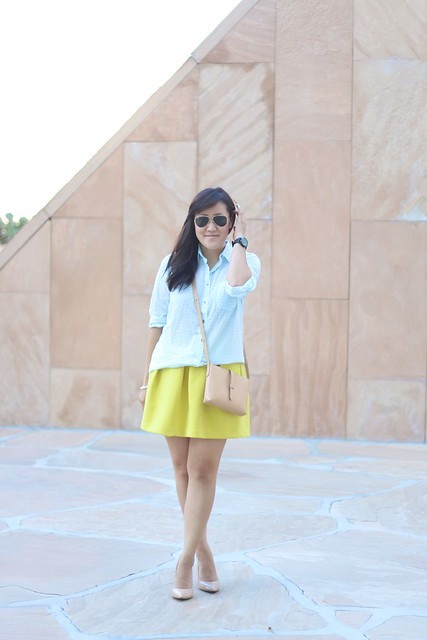 simplyxclassic, jcrew, crossbody, mint and yellow, gingham top, yellow skirt, outfit, ootd, mommy blogger, fashion blogger, style, orange county, lifestyle blogger,
