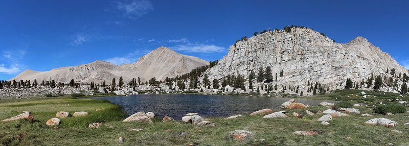 Cirque Peak left of center and Cottonwood Lake Number 2