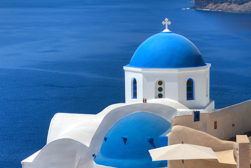 Blue Roofs, Blue Sea, White Walls - Oia, Santorini Greece