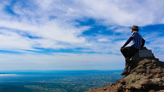 斜里岳の山頂から