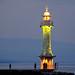 Les Paquis Lighthouse on Lake Geneva, Switzerland by ` Toshio '
