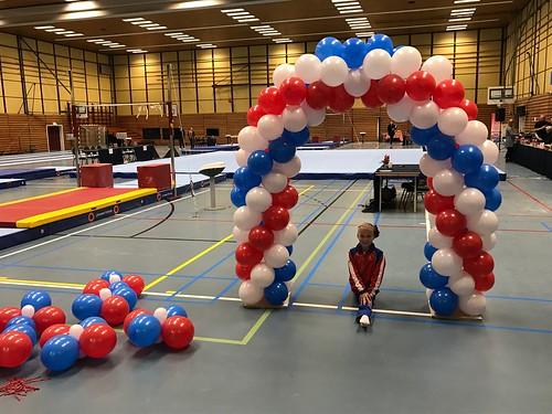 Ballonboog 5m Regiowedstrijd Turnen Sporthal de Enk Rotterdam