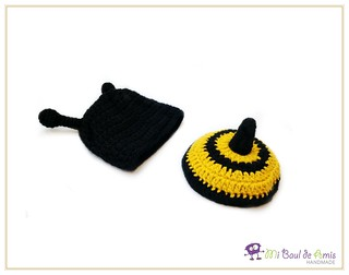 Bee hat and tushie cover