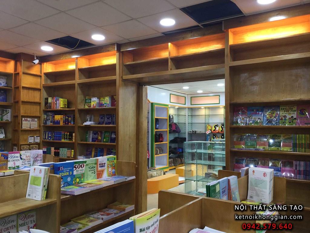 thiết kế và thi công nội thất nhà sách đẹp hà nội