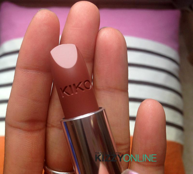 FOTD Kizzy Online makeup KIKO Nederland Velvet Mat 603 Lipstick