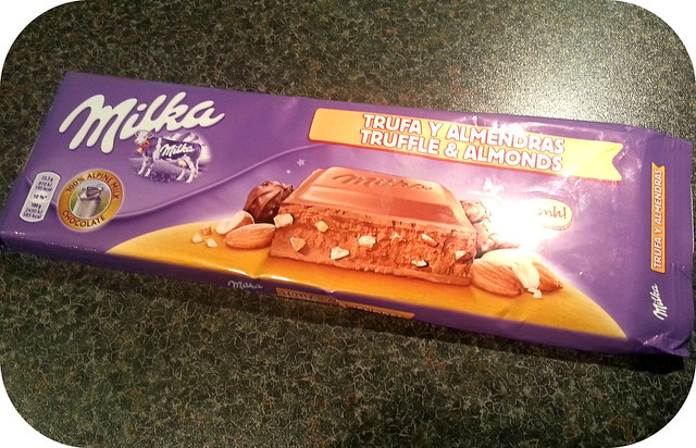 Milka Truffle & Almonds Chocolate Bar