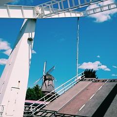 101% Dutch picture: a windmill and a drawbridge