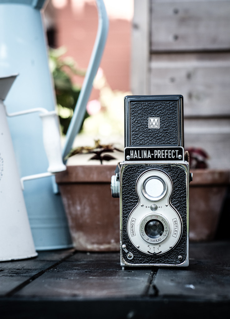 halina, prefect, twin lens, camera, vintage, retro, bokeh, lens