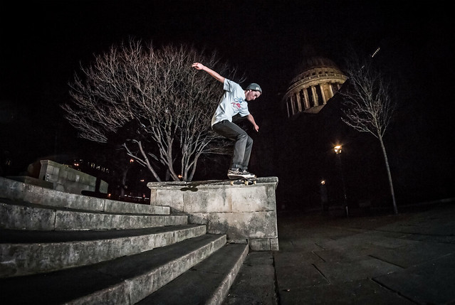 Josh Ward Brickett - Noseslide Chalky Ledges - St.Pauls - London