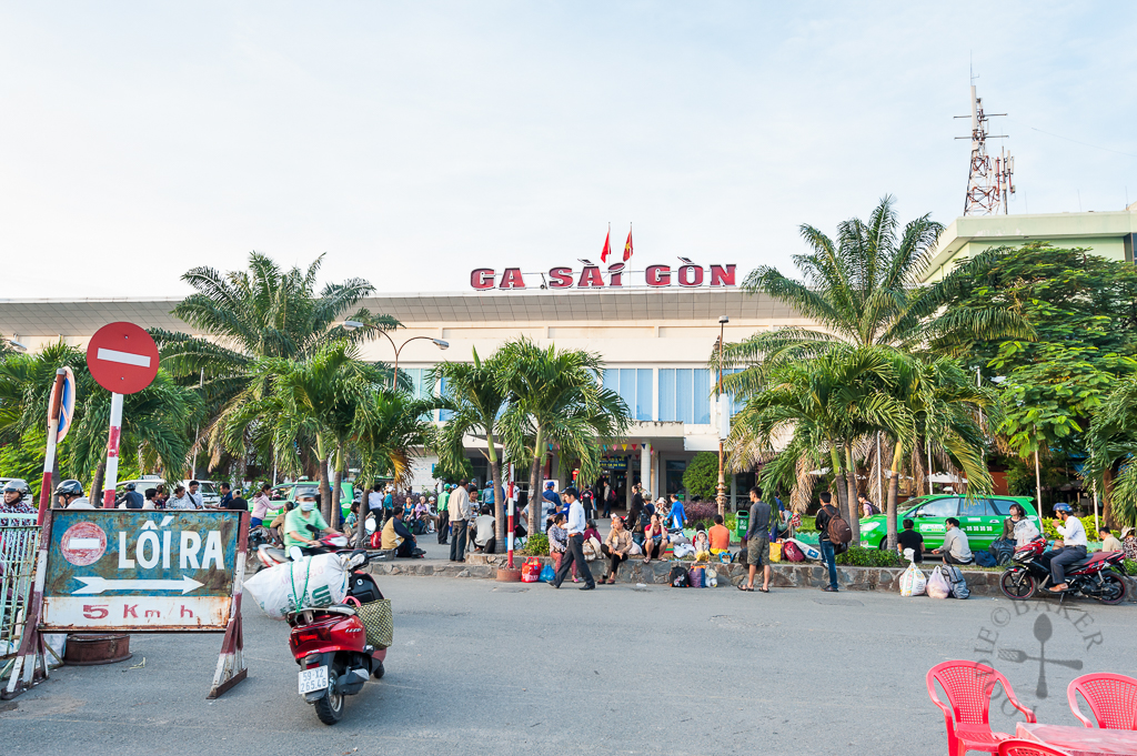 Train station in Ho Chi Minh, Vietnam