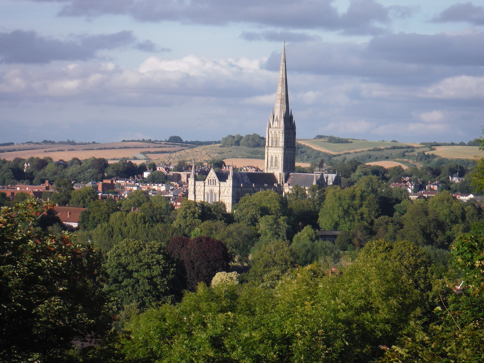 Salisbury Cathedral from Harnham Slope SWC Walk 254 Salisbury Circular
