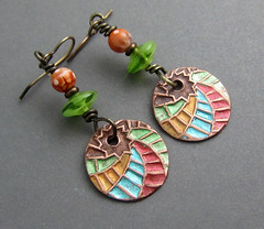 Citrus Swirl Earrings