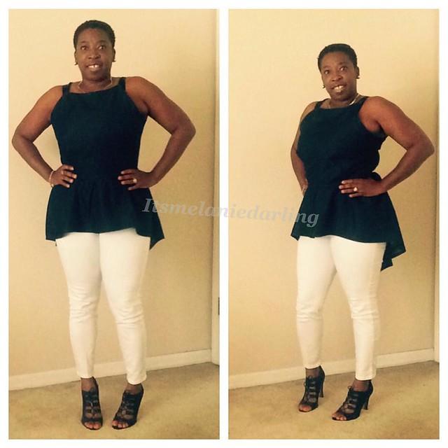 Denim Hi-Lo Peplum Strap atop! #Itsmelaniedarling #clothier #sewologist #seamstress #sewing #sewist #sewcialist #sewingblogger #asewinglife #imakemyownclothes #imadethis #diy #diyer #diystyle #diyfashion #dressmaker #isew #sew #fashion #customsewing #fas