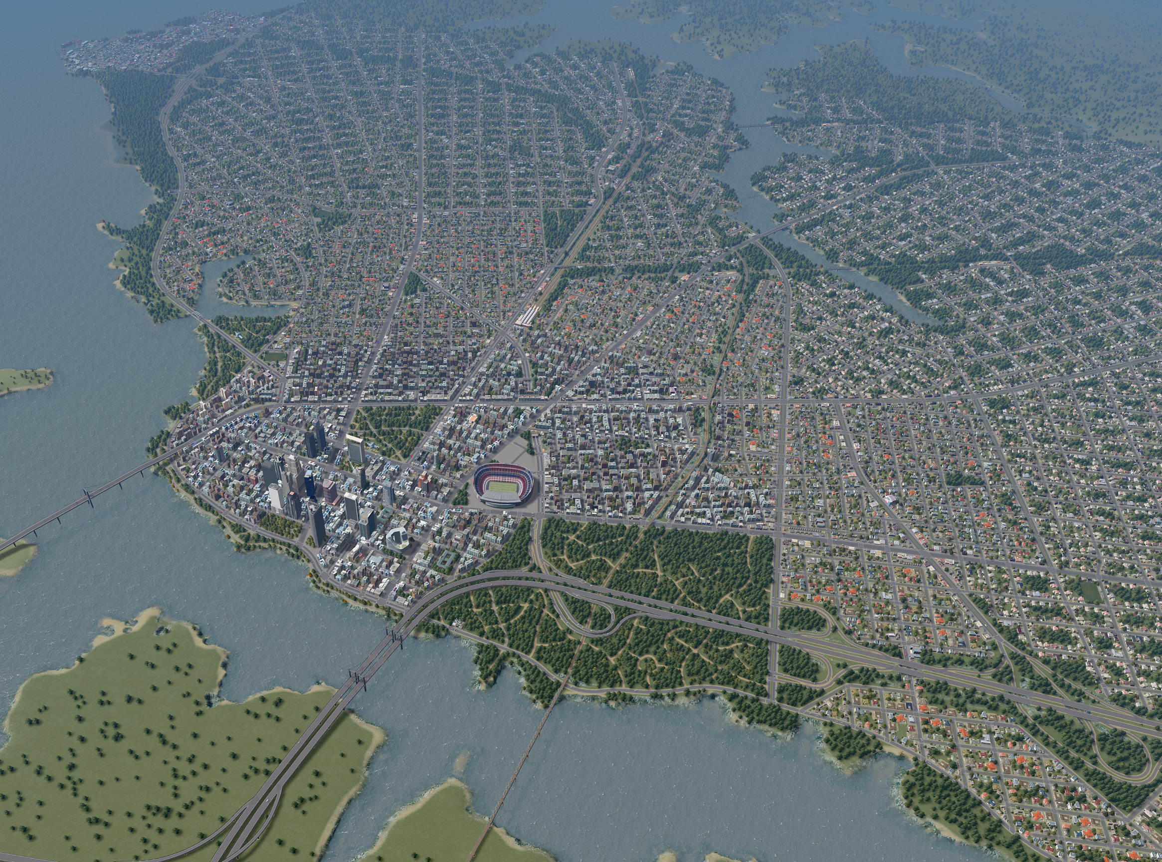 Norfolk City On A River Citiesskylines