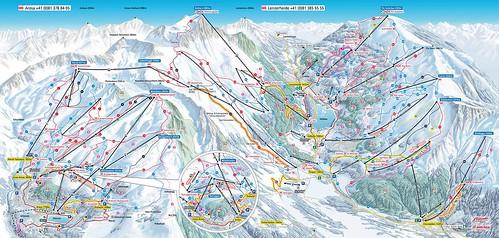 Arosa Lenzerheide - mapa sjezdovek