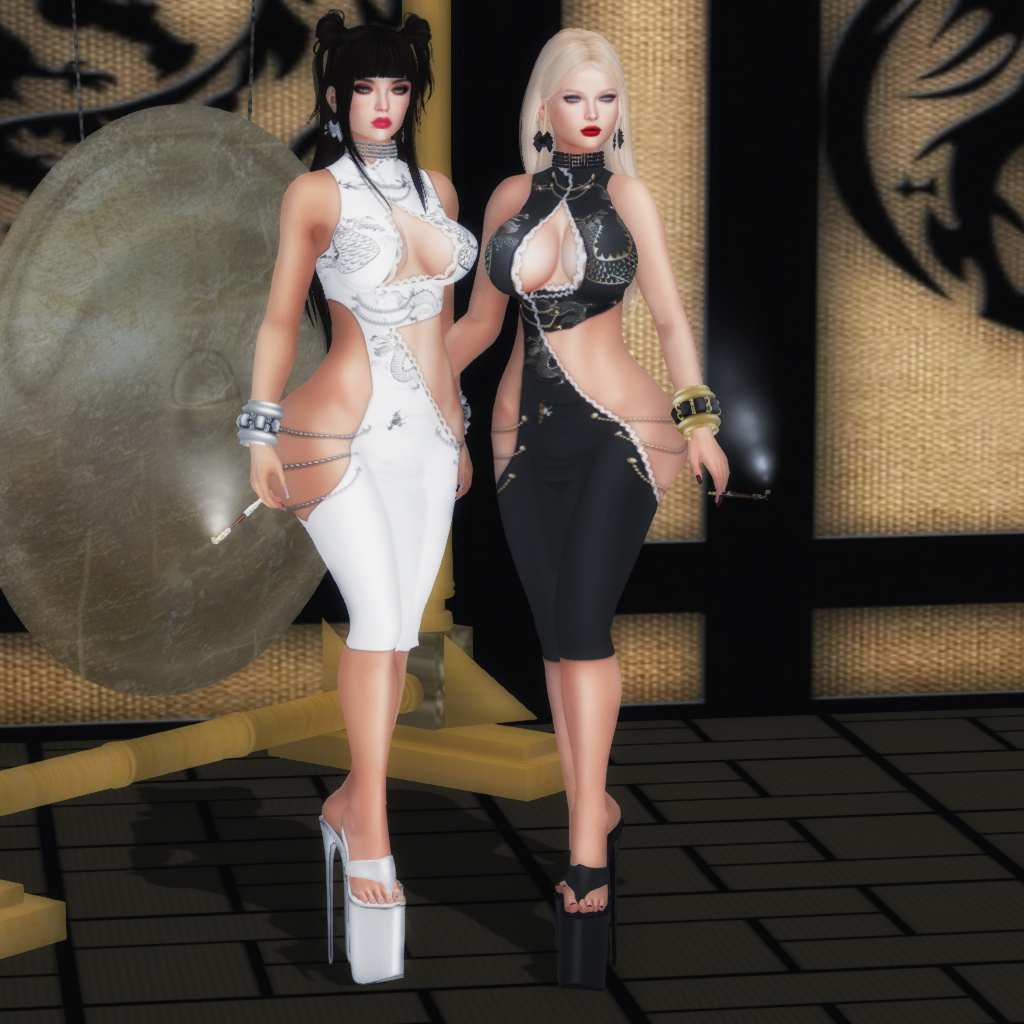 """ VOOH "" Designs Yin Yang outfit - SecondLifeHub.com"