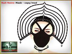 Bliensen - Nuit Noire - Mask
