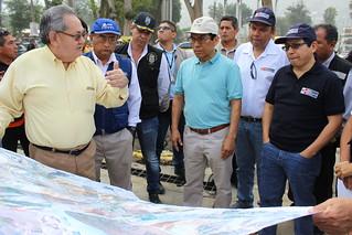 Ministro de Agricultura y Riego y jefe de ANA supervisan eficacia de barreras dinámicas y sistema de alerta temprana