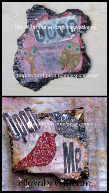Técnica cartón quemado vintage para scrapbooking  paso a paso