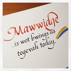 Indeed it does. #calligraphy #lovewins #marriageequality #SCOTUS #PrincessBride