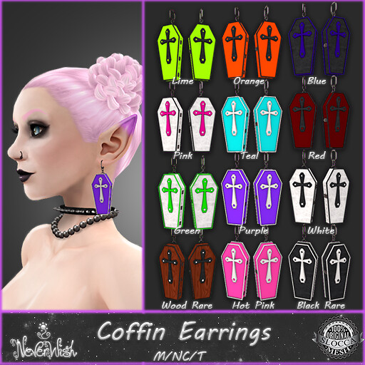 *NW* Coffin Earrings