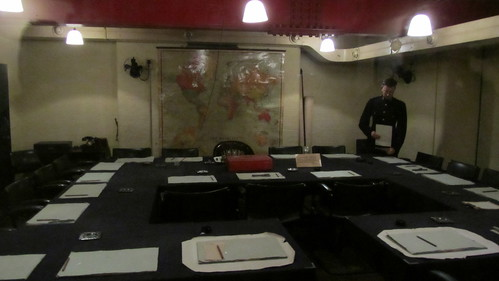 Cabinet room at the Churchill War Rooms, London