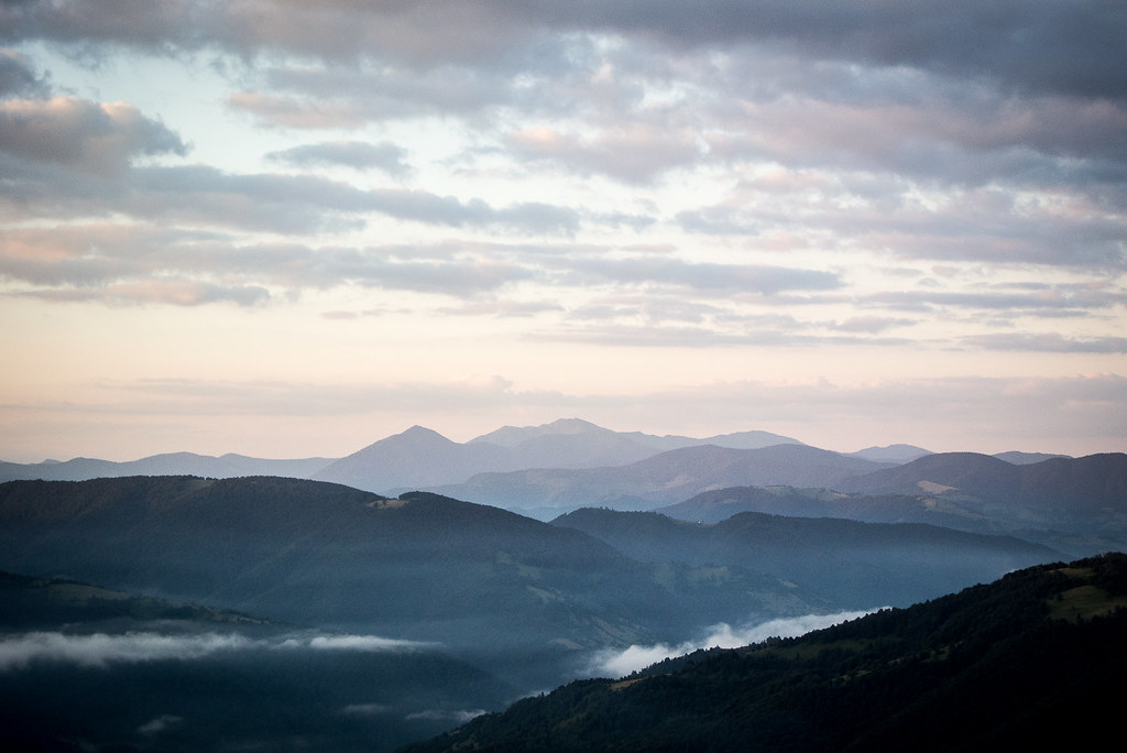 Carpathians at dawn