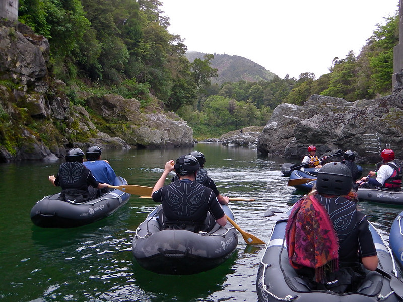 Paddling the Pelorus River in New Zealand