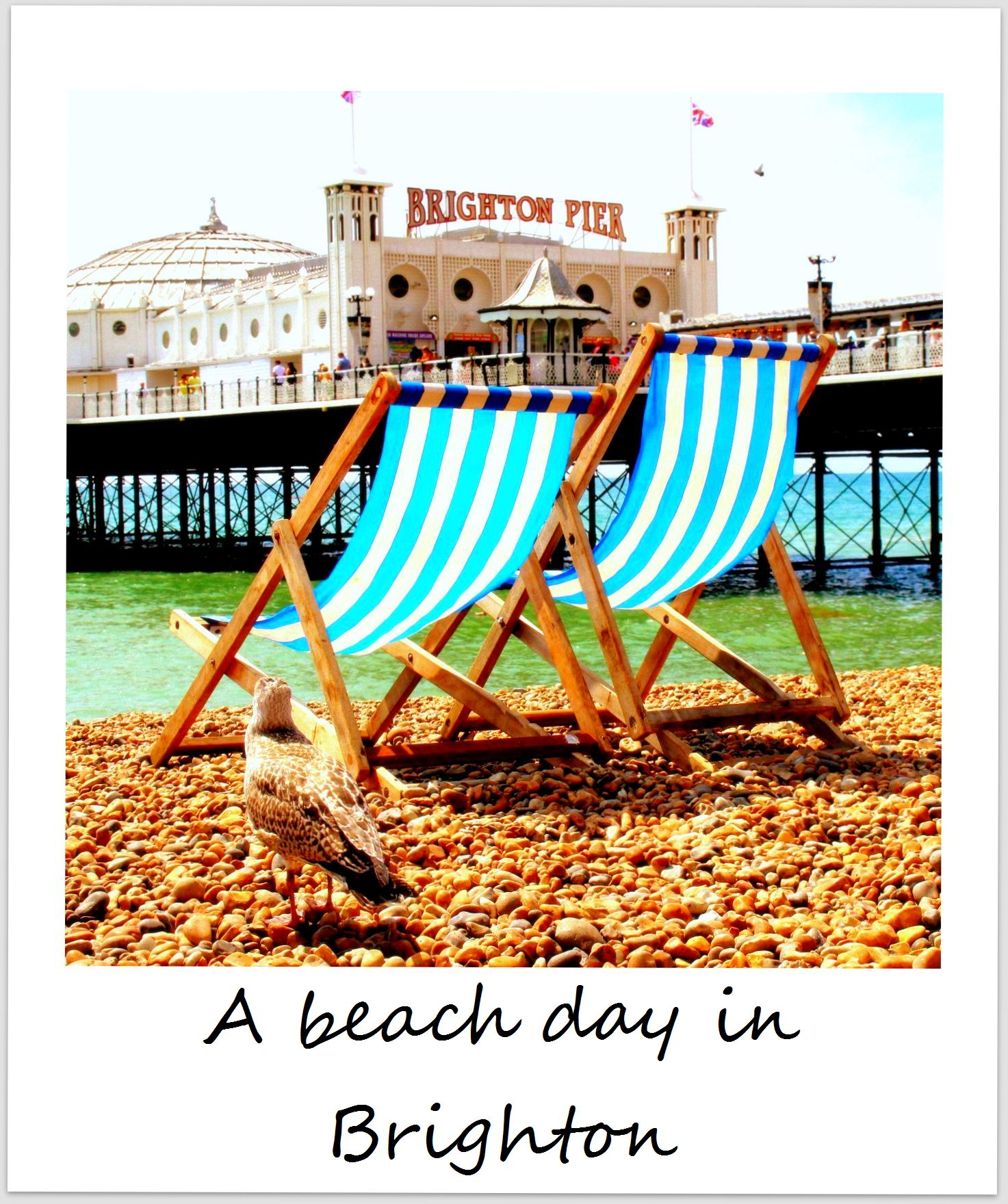 polaroid of the week england brighton beach